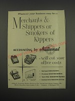 1957 NCR National Accounting Systems Ad - Merchants & Shippers or Smokers