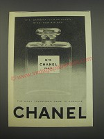 1957 Chanel No. 5 Perfume Ad - The most treasured name in perfume
