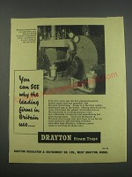 1957 Drayton Steam Traps Ad - You can see why the leading firms in Britain use