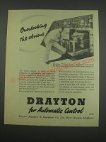 1957 Drayton Dial Set Regulators Ad - Overlooking the obvious