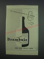 1957 Drambuie Liqueur Ad - The liqueur you prefer to be offered