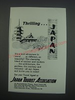 1957 Japan Tourist Association Ad - Thrilling