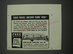 1957 Airstream Trailers Ad - Your travel dreams come true