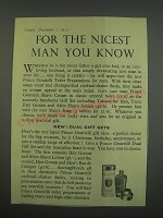 1955 Prince Gourielli Toilet Preparations for men Ad - For the nicest man