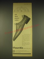 1962 Church's cromarty Shoes Ad - men whose presence matters