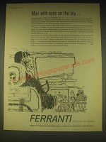 1962 Ferranti Ltd Ad - Man with eyes on the sky