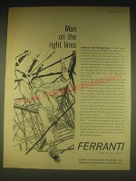 1962 Ferranti Ltd Ad - Man on the right lines