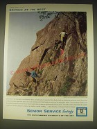 1962 Senior Service Cigarettes Ad - Britain at its best Snowdonia National Park
