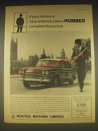 1962 Humber Super Snipe Saloon Ad - If your horizons have widened