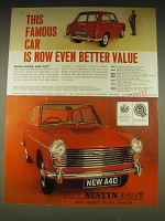 1962 Austin A40 Car Ad - This famous car is now even better value