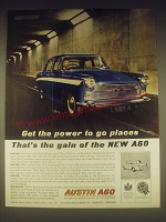 1962 Austin A60 Car Ad - Get the power to go places