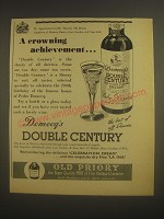 1962 Domecq's Double Century Sherry Ad - A crowning achievement