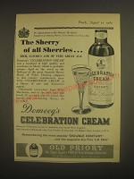 1962 Domecq's Celebration Cream Sherry Ad - The Sherry of all Sherries