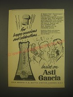 1962 Asti Gancia Wine Ad - For happy occasions and celebrations