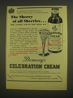 1958 Domecq's Celebration Cream Sherry Ad - The Sherry of all Sherries
