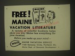 1958 Maine Tourism Advertisement
