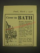 1958 Bath Tourism Ad - Come to Bath