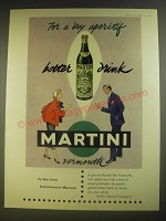 1955 Martini Vermouth Ad - For a dry aperitif better drink Martini
