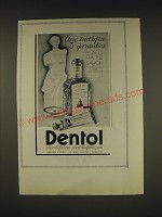 1938 Dentol Toothpaste Ad - In French - Une marque 3 garanties