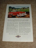1954 Chevrolet Bel Air Sport Coupe Ad, NICE!!