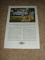 1954 Chevrolet Deluxe Coupe Car Ad, NICE!!!