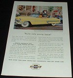 1954 Yellow Chevrolet Bel Air Sport Coupe Ad!