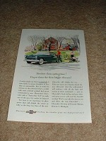 1955 Chevrolet Bel Air Sport Coupe Ad, NICE!!
