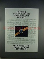 1982 Patek Philippe Golden Eliipse Watch Ad!