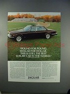 1982 Jaguar Series III Car Ad - Pound for Pound!