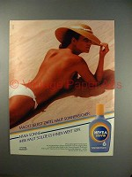 1983 Nivea Sonne Ad,  Featuring Nude Woman, in German!