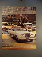1985 Rolls Royce Corniche Convertible Car Ad - Simply Best!