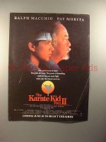 1986 The Karate Kid Part II Movie Ad, w/ Ralph Macchio & Pat Morita!