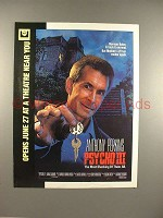 1986 Psycho III Movie Ad, w/ Anthony Perkins!