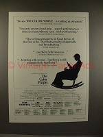 1986 The Color Purple Movie Ad - Rattling Good Watch!