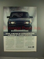 1986 Saab 900 Car Ad - Means of Expression!