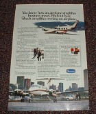 1982 Beechcraft Duke Airplane Ad, Simplifies Travel!!