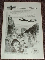 1948 Air France Ad, Arc de Triomphe - Magic Doorway!!