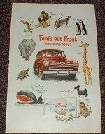 1946 Ford Car Ad - Ford's Out Front With Everybody!!