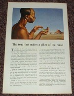 1946 Travelers Insurance Ad, Toad makes Piker of Camel!