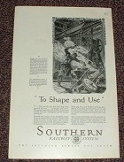 1927 Southern Railway System Ad - To Shape and Use!!