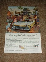 1957 Ford Convertible Ad, New England NICE!!