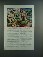 1950 Travelers Insurance Ad - Dirt Told No Tales!
