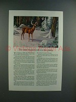 1945 Travelers Insurance Ad w/ Virginia White Tail Deer