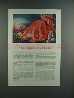 1944 Travelers Insurance Ad w/ Thorny Oyster