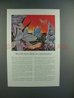 1941 Travelers Insurance Ad w/ North American Moth