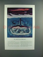 1938 Travelers Insurance Ad w/ Polar Bear