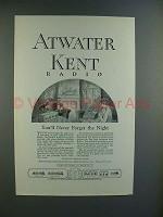 1925 Atwater Kent Radio Ad - Model 10, 12, 30, 19, 9
