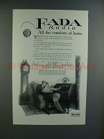 1925 Fada Radio Ad - Queen Anne Desk - Comforts!