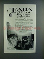 1925 Fada Neutrola Grand Radio Ad - Tune in tonight