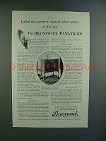 1926 Brunswick Panatrope Model 10 Radio Ad - Greatest!